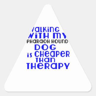 Walking With My Pharaoh Hound Dog Designs Triangle Sticker