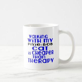Walking With My Pixie-Bob Cat Designs Coffee Mug