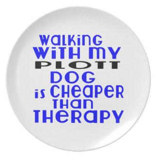Walking With My Plott Dog Designs Plate