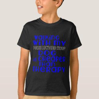 Walking With My Polish Lowland Sheepdog Dog Design T-Shirt