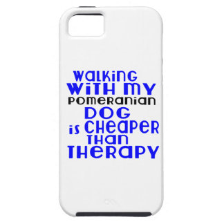 Walking With My Pomeranian Dog Designs iPhone 5 Cases