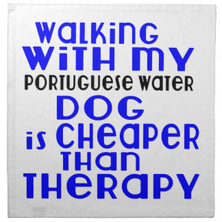 Walking With My Portuguese Water Dog Dog Designs Printed Napkins