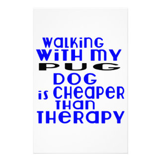 Walking With My Pug Dog Designs Customized Stationery