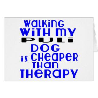 Walking With My Puli Dog Designs Card