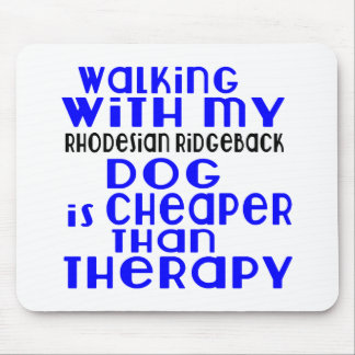 Walking With My Rhodesian Ridgeback Dog Designs Mouse Pad