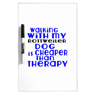 Walking With My Rottweiler Dog Designs Dry Erase Boards
