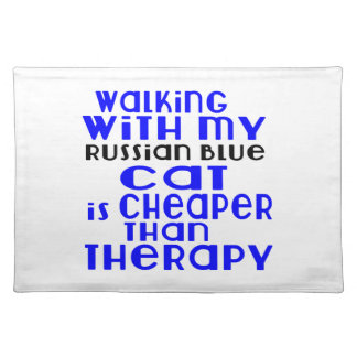 Walking With My Russian Blue Cat Designs Placemat