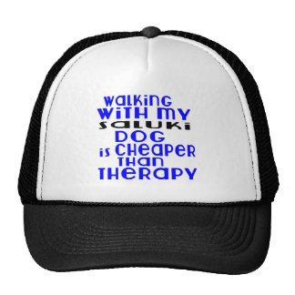 Walking With My Saluki Dog Designs Trucker Hat