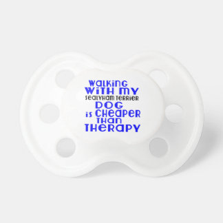 Walking With My Sealyham Terrier Dog Designs Baby Pacifiers
