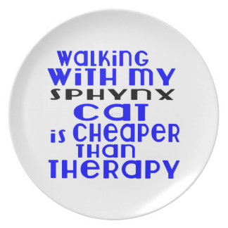 Walking With My Sphynx Cat Designs Dinner Plates