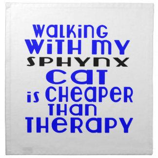Walking With My Sphynx Cat Designs Napkin