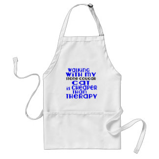 Walking With My Stone cougar Cat Designs Standard Apron