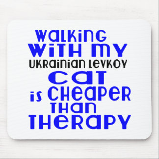 Walking With My Ukrainian Levkoy Cat Designs Mouse Pad