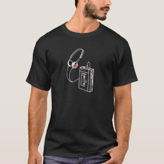 Walkman Tape Player Audio Analog Cassette Old Scho T-Shirt