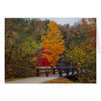 Walkway Bridge To Alley Mill Card
