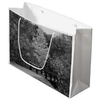 Walkway Bridge to Alley Mill Grayscale Large Gift Bag