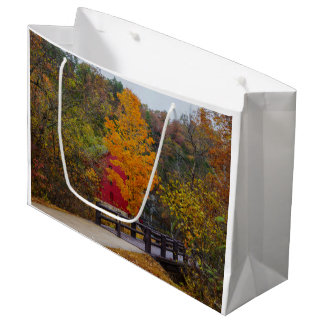 Walkway Bridge To Alley Mill Large Gift Bag