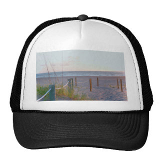 walkway florida beach dune sunrise hat