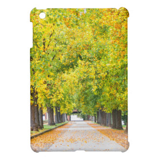 Walkway full of trees iPad mini cover