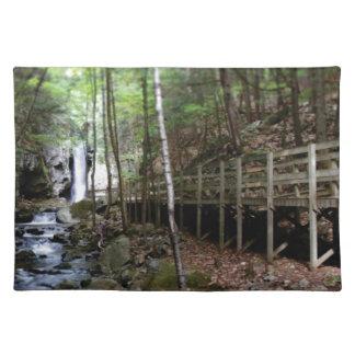 walkway near stream placemat