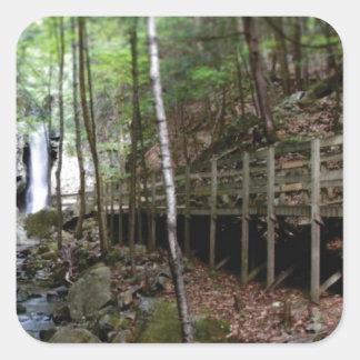 walkway near stream square sticker