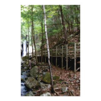 walkway near stream stationery
