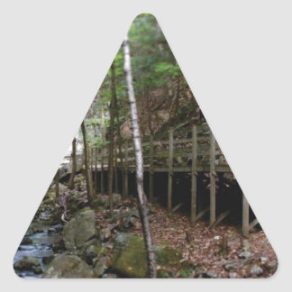 walkway near stream triangle sticker