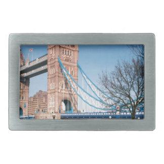 Walkway only bridge in London UK fun picnic spot Rectangular Belt Buckle