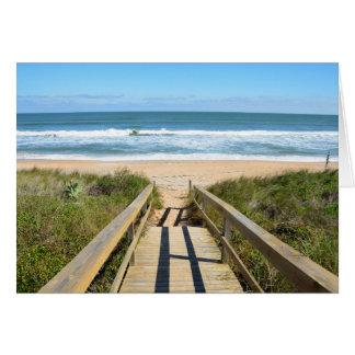 Walkway to the beach card