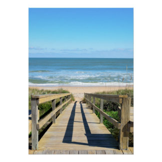 Walkway to the beach print