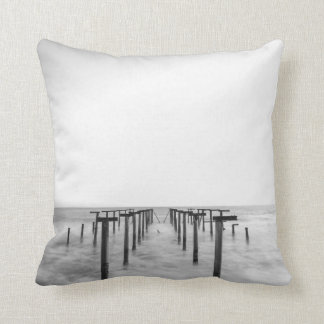 walkway underwater, photo print pillow