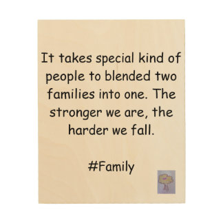 Wall Art for Blended families Wood Prints