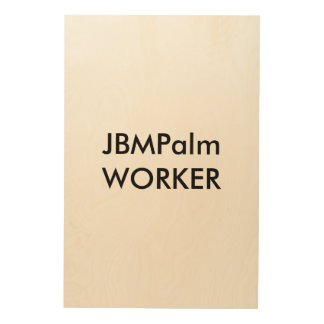 Wall Art JBMPalm WORKER Wood Canvases