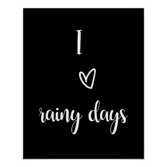 "Wall art poster ""I coils rainy days """