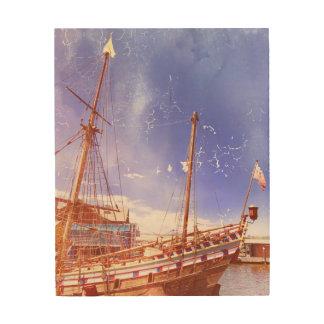 """Wall Art """"Sailing Ship"""" Wood Prints"""