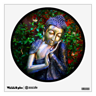 wall art | Sleeping Buddha Circle Wall Decal