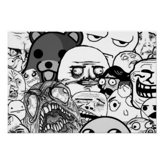 Wall Art | the Trollface Collection (1/3)