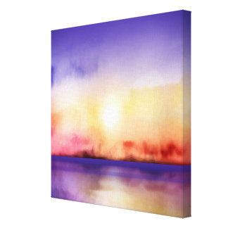 Wall Art - Watercolor Sunset & Sea ALL OPTIONS