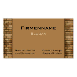 Wall Pack Of Standard Business Cards