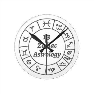 Wall Clock 13 Zodiac Astrology