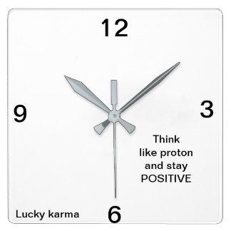 wall clock acrilyc by Lucky karma