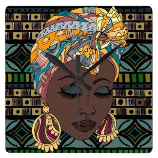 Wall Clock Afro Native Motives