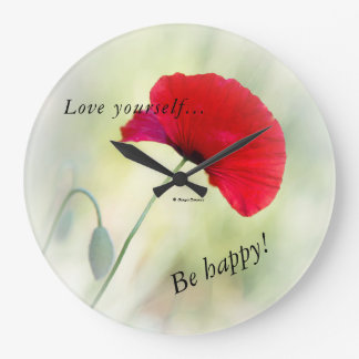 "Wall clock ""Be happy!"""