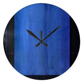 Wall Clock, Blue puzzle Clock