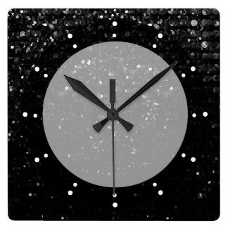 Wall Clock Crystal Bling Strass