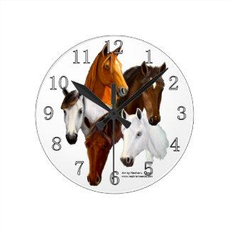 Wall Clock - Customized, 5 Horse Heads