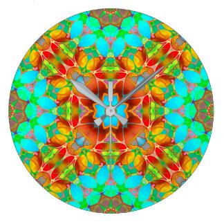 Wall Clock Floral Fractal Art G410