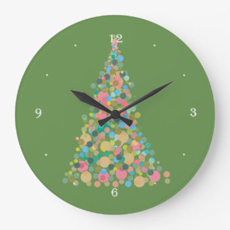 Wall Clock Holiday tree