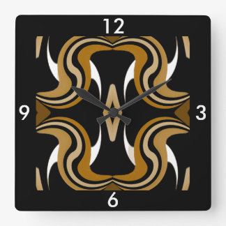 Wall Clock-Home-Black/White/Gold/Tan/Orange Square Wall Clock