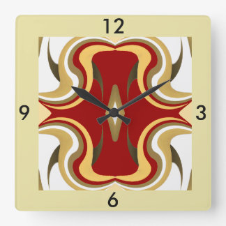 Wall Clock-Home-Creme/Red/Green/Peach/White/Tan Square Wall Clock